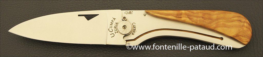 Corsican U Cumpa knife Classic range Olivewood