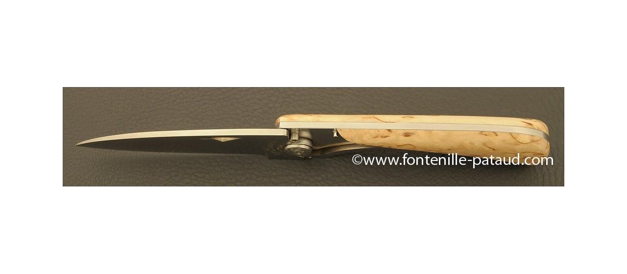 Corsican U Cumpa knife Classic range Curly birch