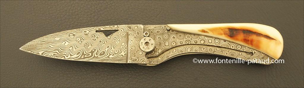 Corsican U Cumpa knife Damascus Range Warthog