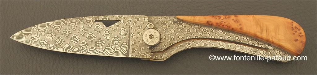 Corsican U Cumpa knife Damascus Range Juniper