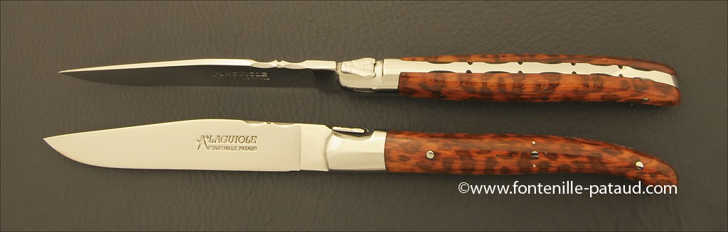 Set of 2 Laguiole Forged Steak Knives Amourette