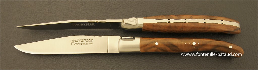 Set of 2 Laguiole Forged Steak Knives Walnut