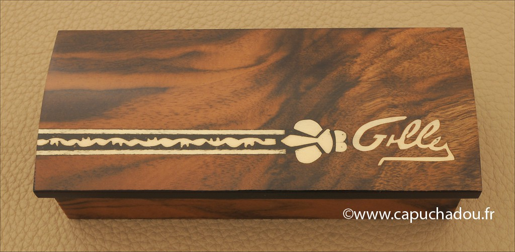 Marquetry hand made wooden box