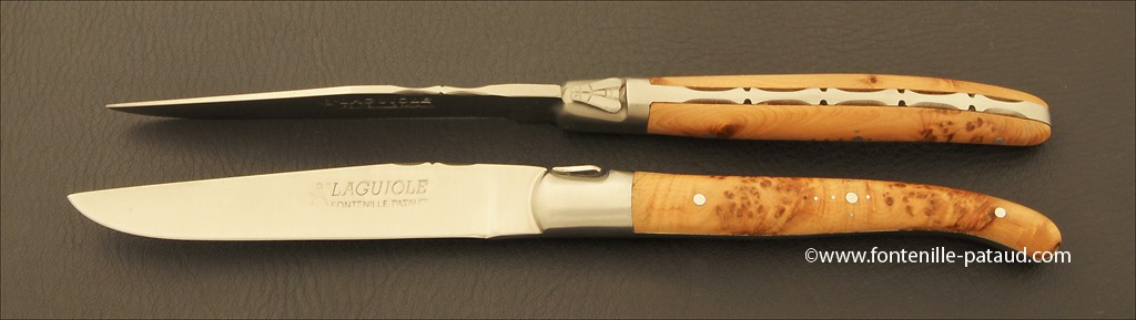 Set of 6 Laguiole Forged Steak Knives Juniper