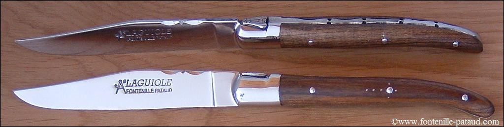 Set of 6 Laguiole Forged Steak Knives Pistachio wood