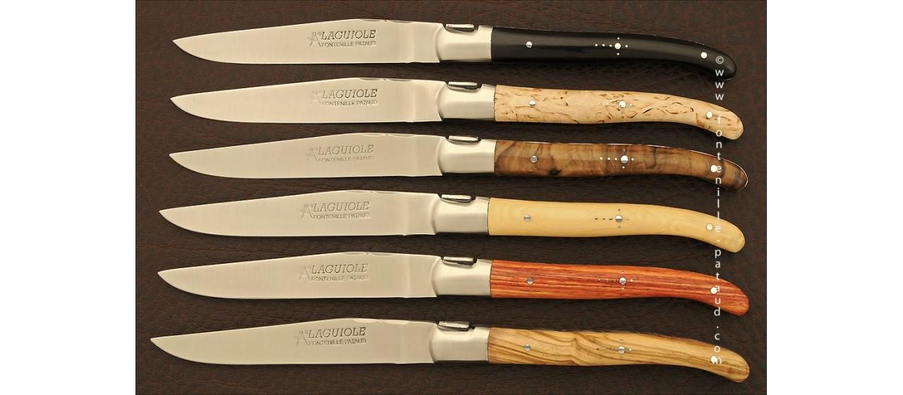 Assortiment de 6 Laguiole forgés bois variés