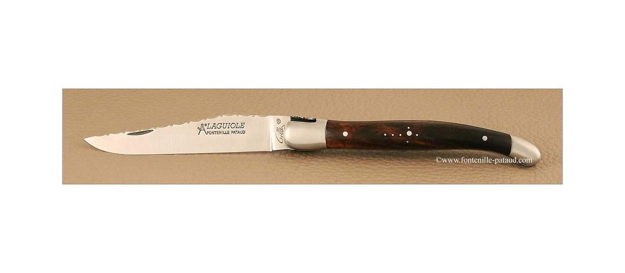 Couteau de laguiole avec bois de fer et acier 12C27