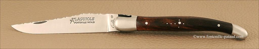 Laguiole Traditionnel 12 cm Guilloché Bois de fer