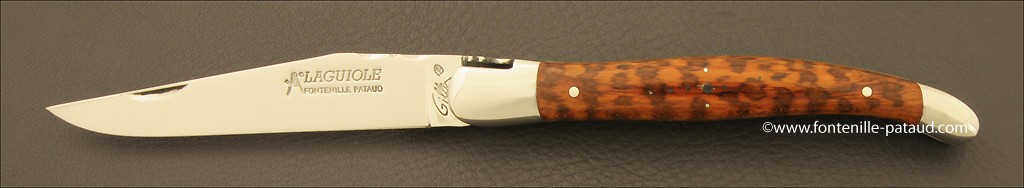 Snakewood laguiole nife with traditional sherpherd's croos