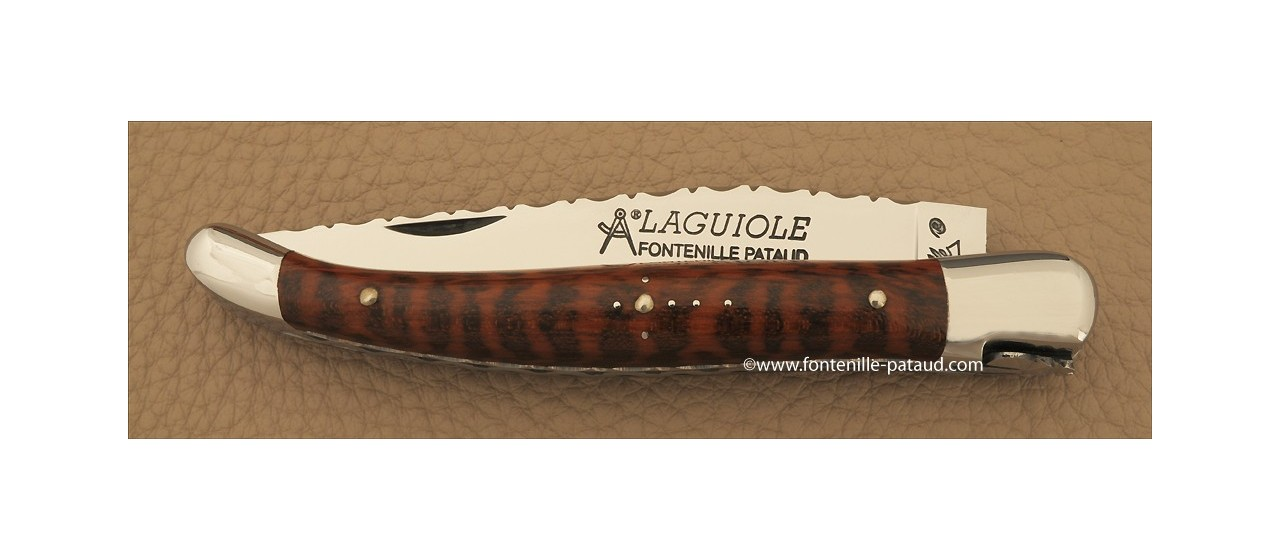Laguiole with ciseled freehand spring