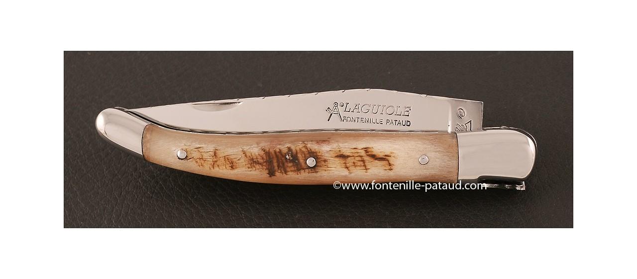 Laguiole knife with ram horn handle