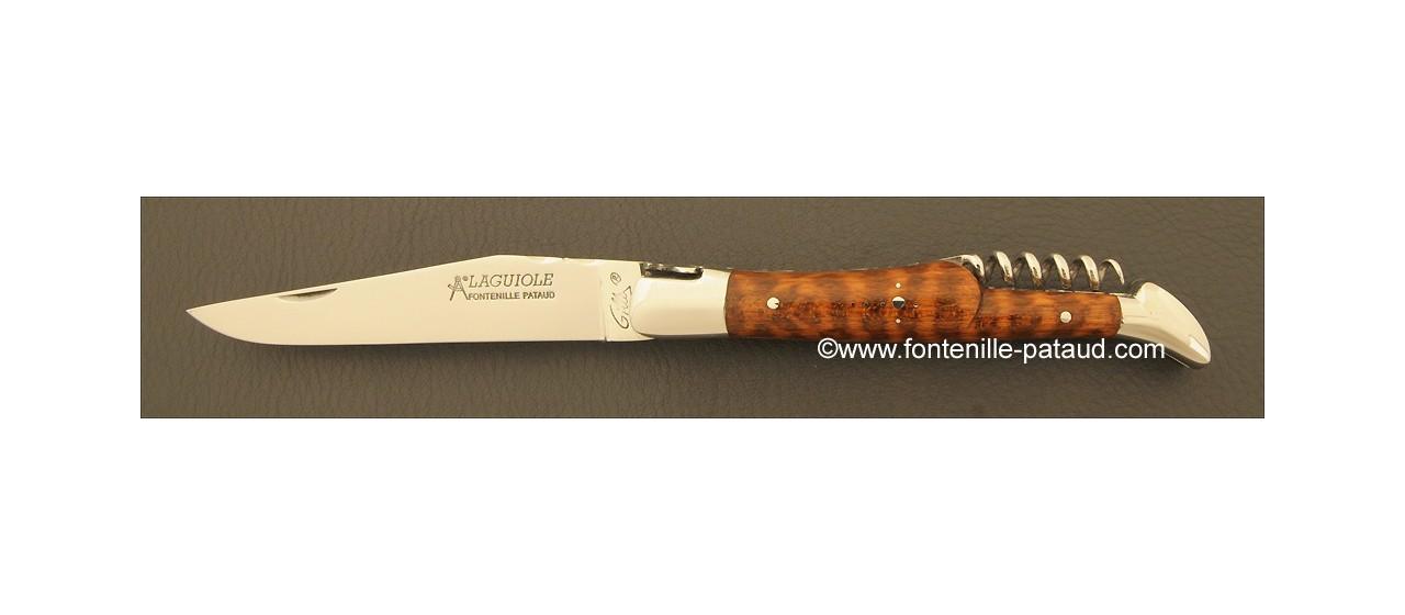 Couteau Laguiole Traditionnel 12 cm Classique avec Tire-Bouchon Amourette