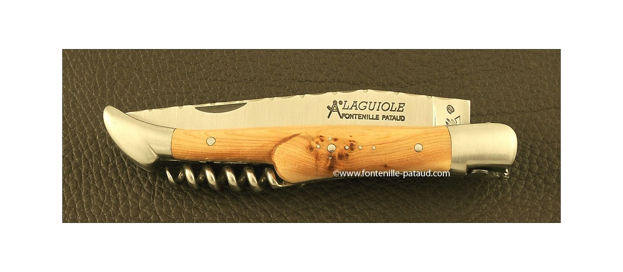 Laguiole Knife Picnic Guilloche Range Juniper Burl