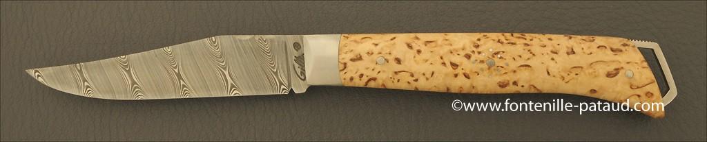 Le Saint-Bernard 11 cm Damascus Range Curly birch