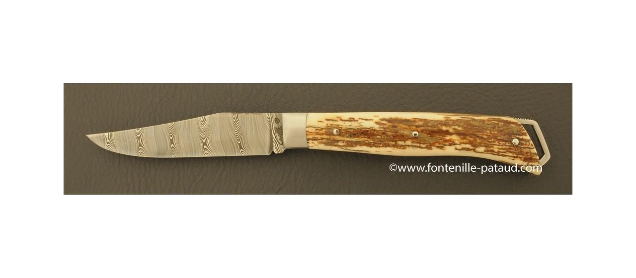 Le Saint-Bernard 11 cm Damas Ivoire de Mammouth Brun
