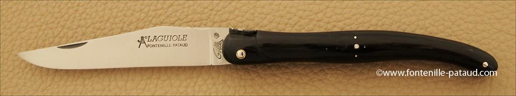 Laguiole Traditionnel 12 cm Classique Plein manche Ebène