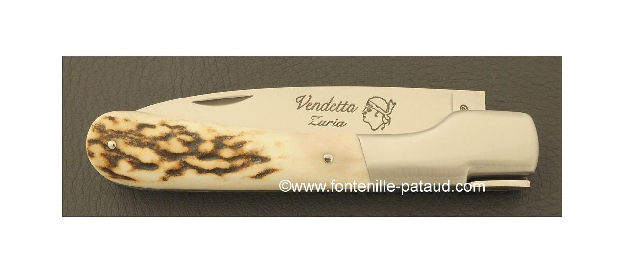 Couteau Vendetta Corse Traditionnelle Bois de cerf