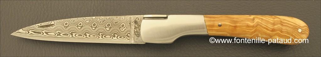 Corsican Vendetta knife Damascus Range Olivewood