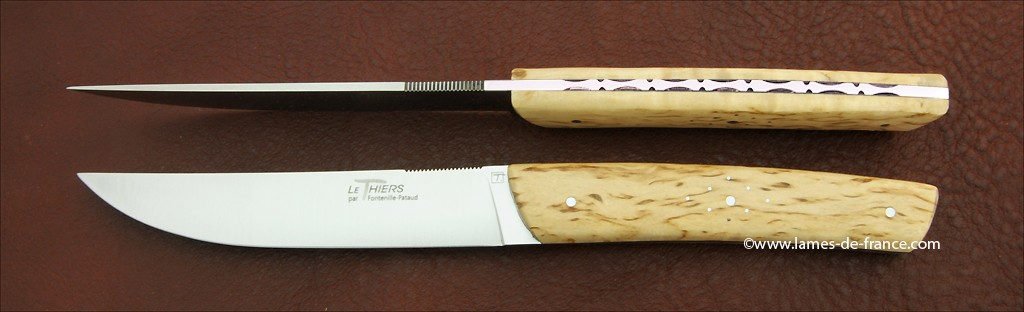 Set of 2 Le Thiers® knives Curly birch