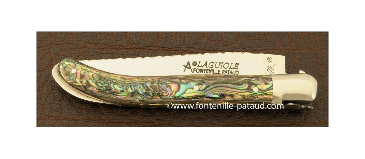 Couteau Laguiole XS Guilloche Nacre