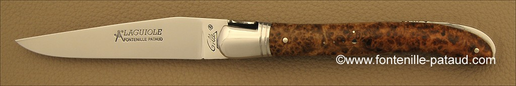 Laguiole knife by Gilles mapple burl
