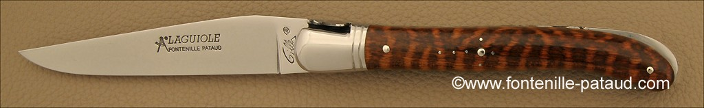 Lock back system Laguiole knife handmade snakewood