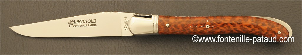 Craftman laguiole knife made in France, snakewood