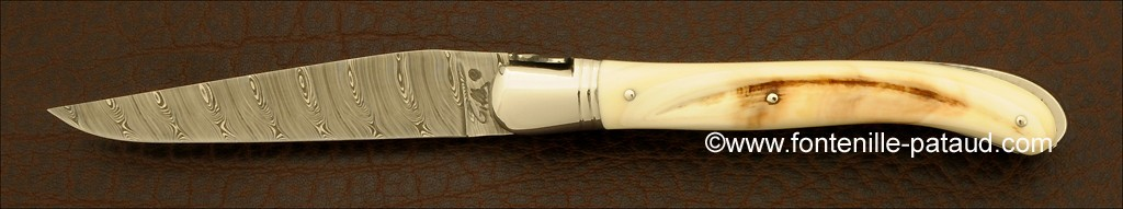Damascus laguiole knife