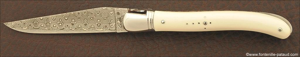 Véritable laguiole fabriqué par un coutelier en ivoire