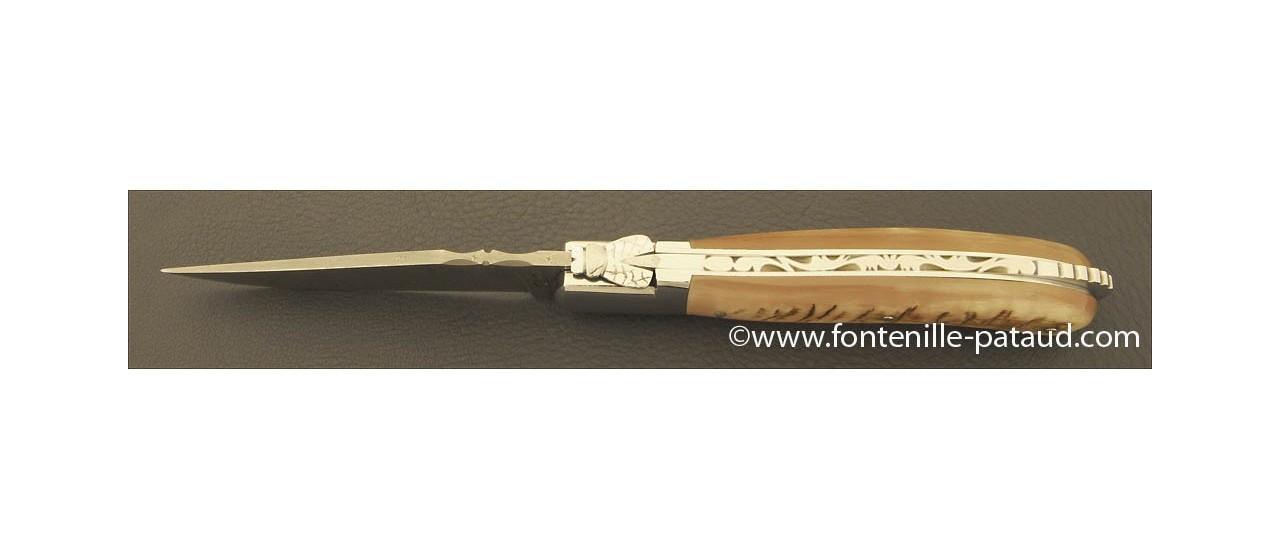 Laguiole Knife Sport Damascus Range Ram horn