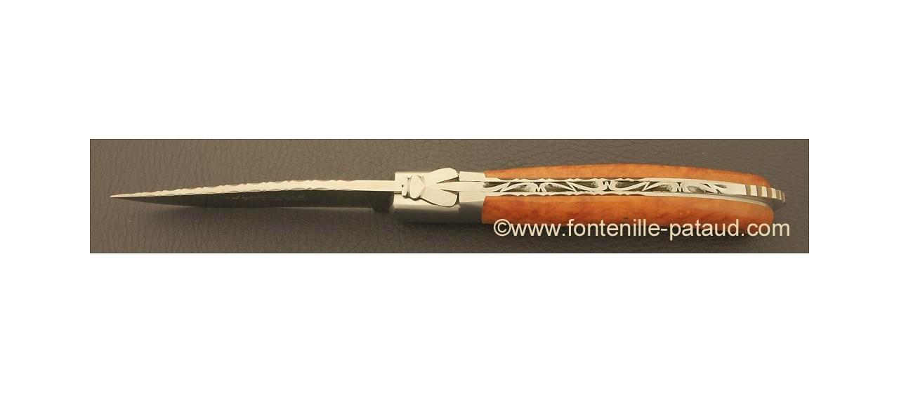 Laguiole Sport knife guilloché briar root