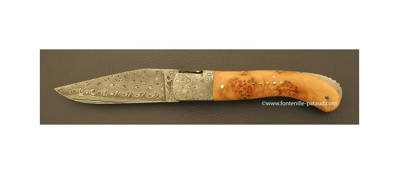 Couteau Laguiole Sport genévrier avec lame damas