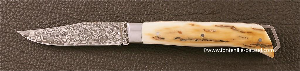 Le Saint-Bernard 11 cm Damas Mammouth Brun Guillochage Fin
