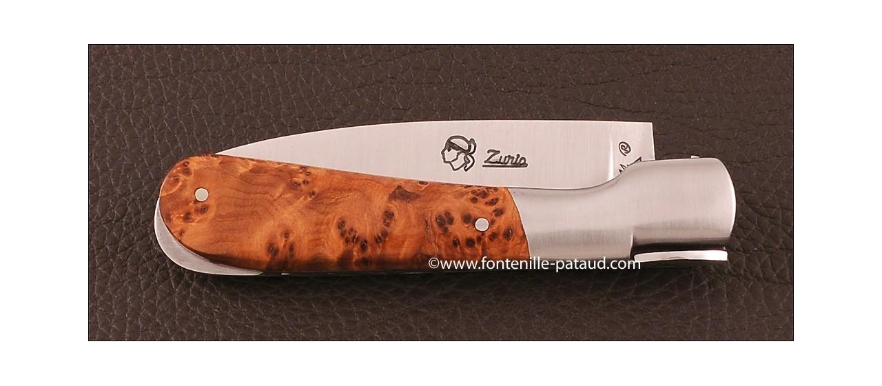 Corsican Pialincu knife Classic Range Thuya Burl