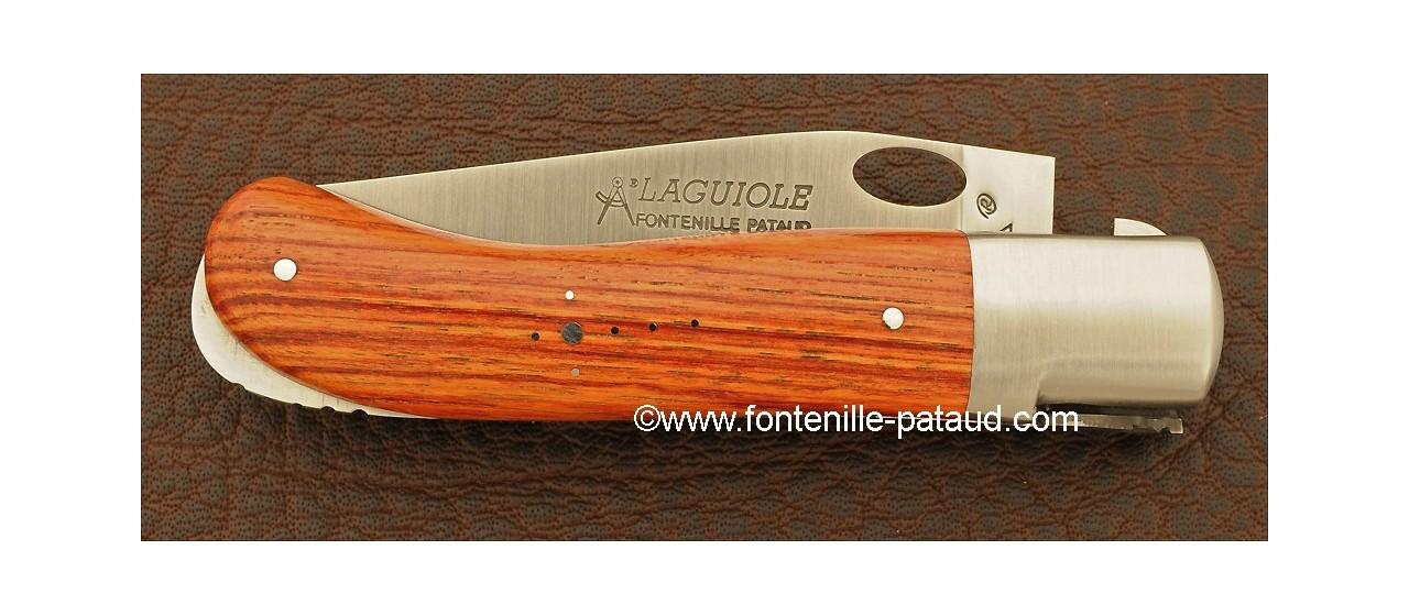 Couteau Laguiole Gentleman Une main Bois de rose