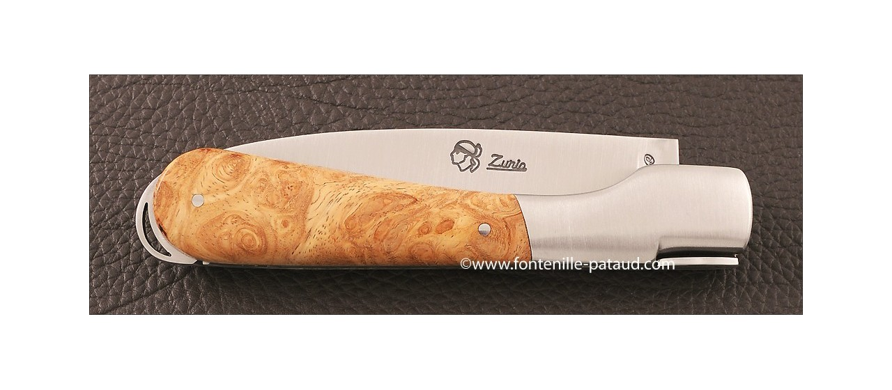 Corsican Sperone knife Classic Range Stabilized Maple burl