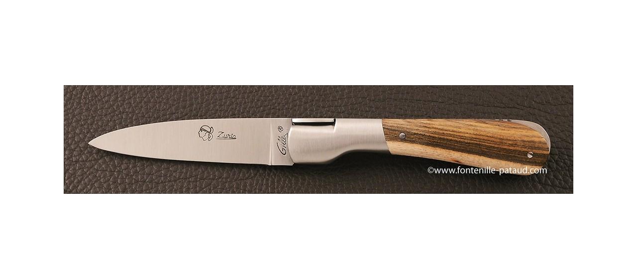 Couteau Pialincu Corse Classique Pistachier