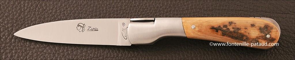 Couteau Pialincu Corse Classique Ivoire de Mammouth
