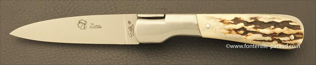 Couteau Pialincu Corse Classique Bois de cerf