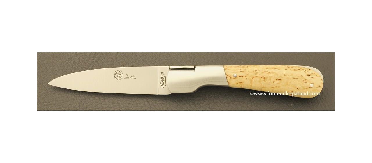 Couteau Pialincu Corse Classique Bouleau