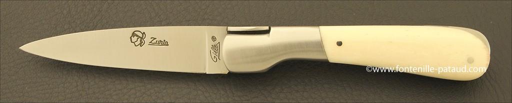 Couteau Pialincu Corse Classique Os Veritable