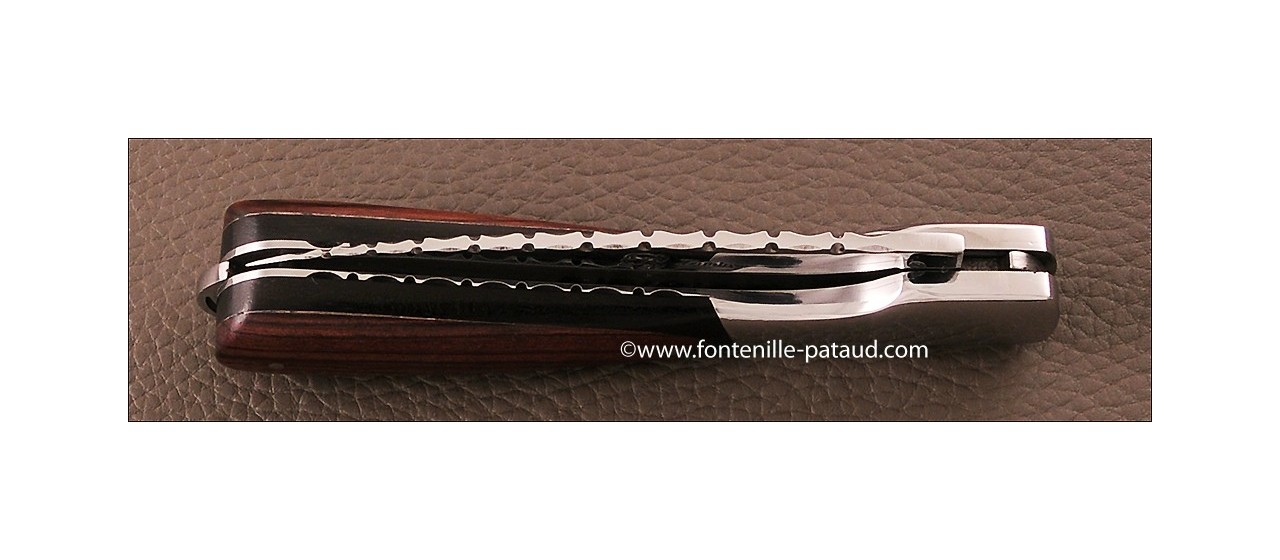 Corsican Sperone knife Guilloche Range Ebony and Purplewood