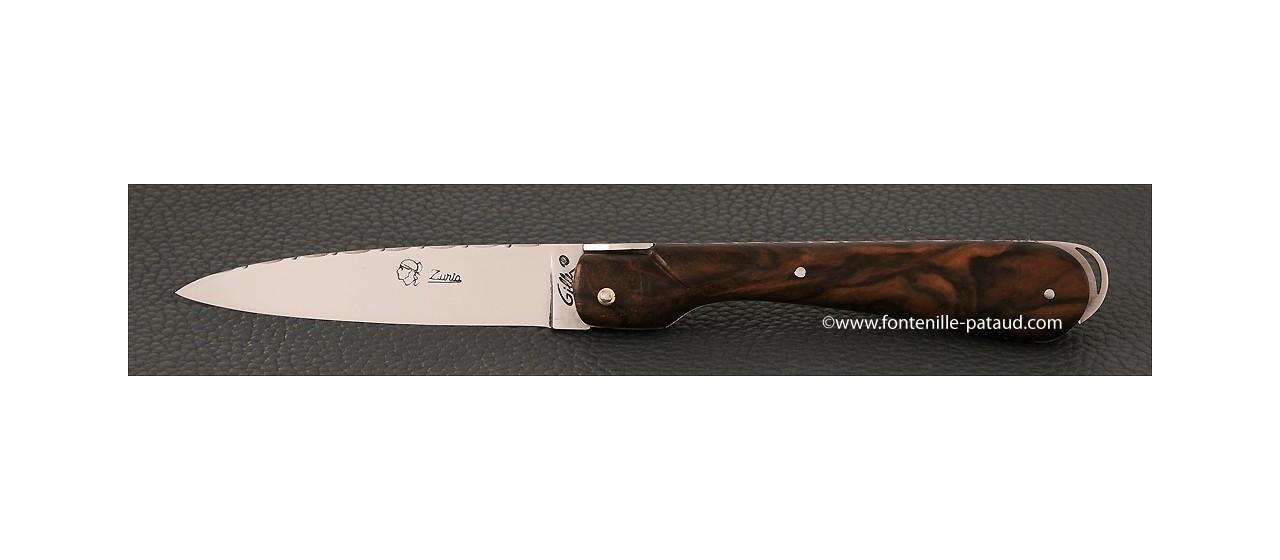 Corsican Sperone knife Guilloche Range Walnut
