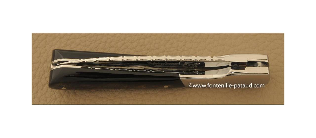 Corsican Vendetta knife Guilloche Range Buffalo bark