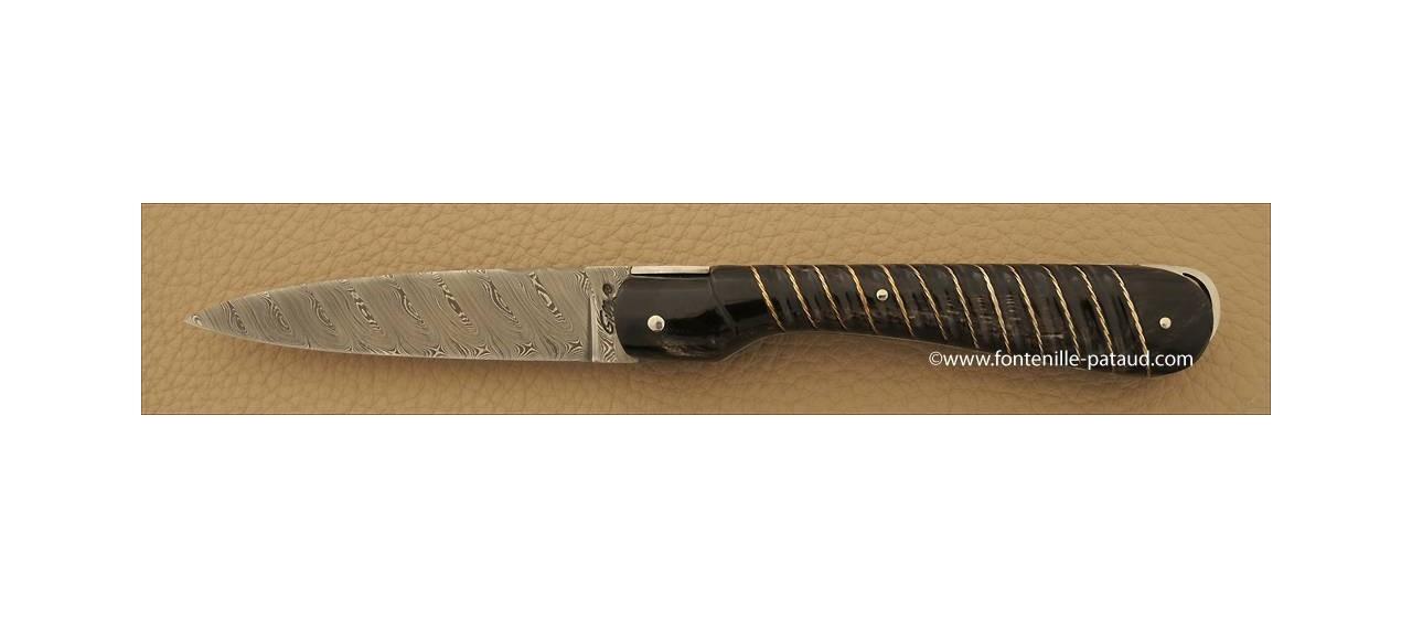 Corsican Sperone knife Collection Range Silver thread Black horn