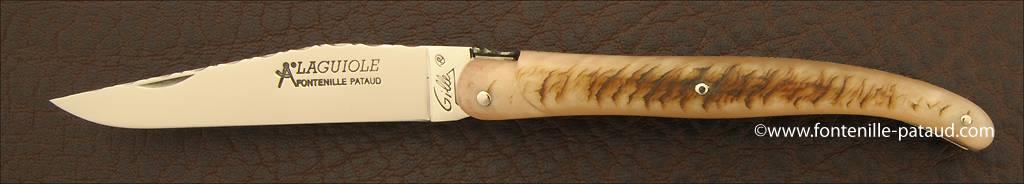 Laguiole Traditionnel 11 cm Guilloché Plein manche Bélier