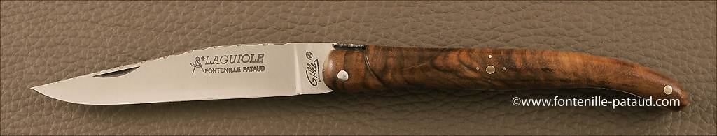 Laguiole Knife Traditional 11 cm Guilloche Range Walnut
