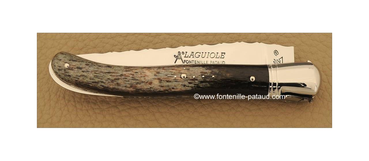 Magnique couteau laguiole haut de gamme en os de girafe