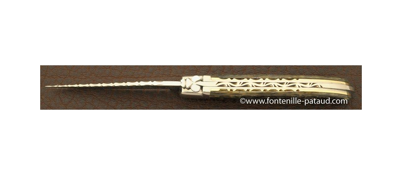 Laguiole Knife XS Guilloche Range Mother of Pearl