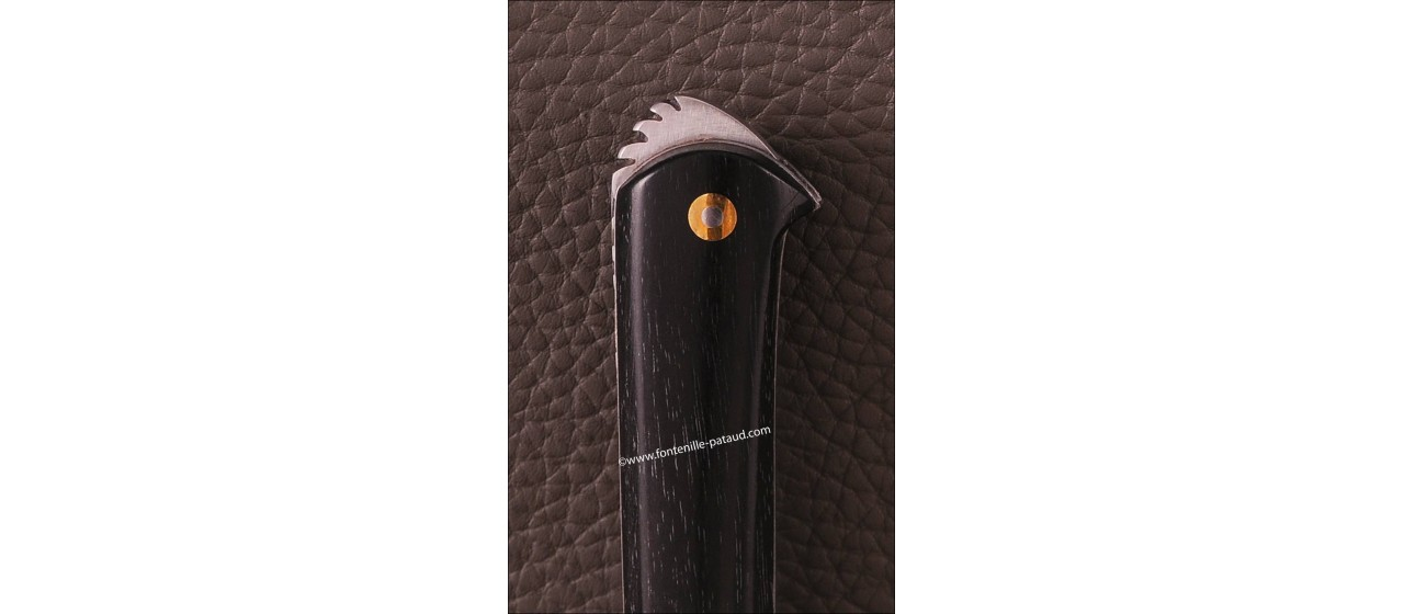 Le 5 Coqs knife ebony hand made in France